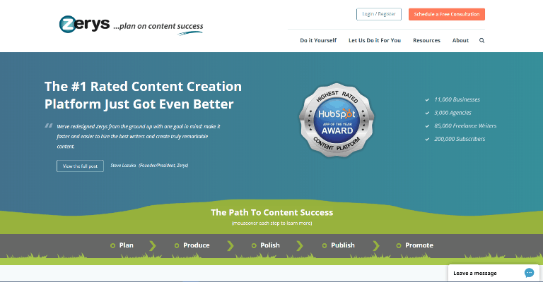 zerys Content Marketing Platforms