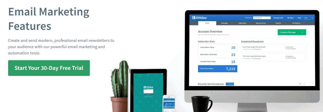 AWeber Email Marketing Tool