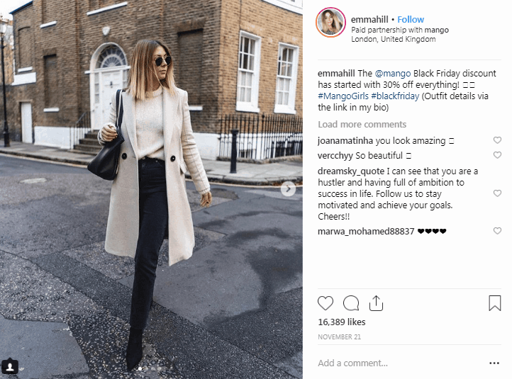 Emma Hill Instagram Fashion Influencers