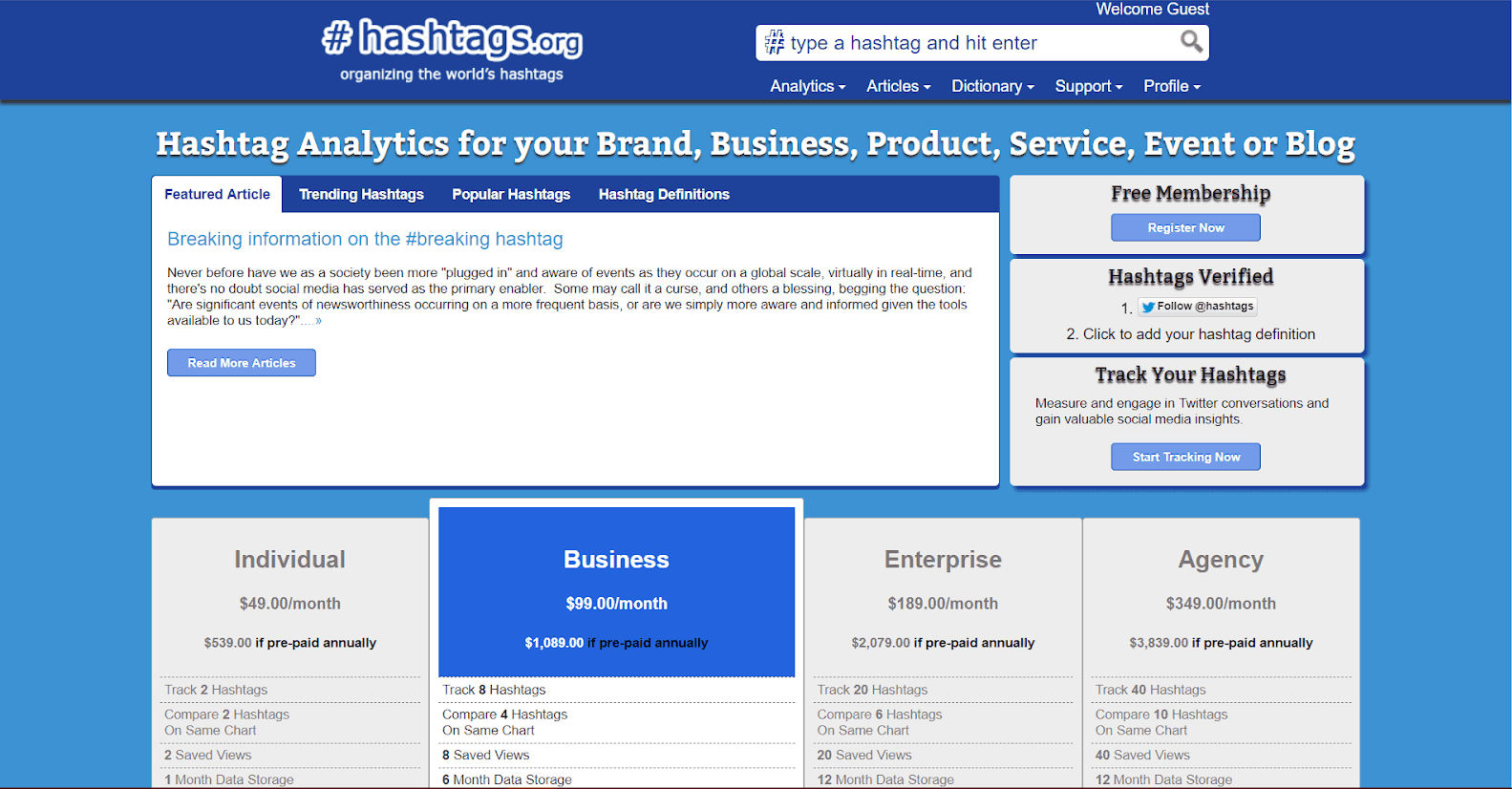 Hashtags Tracking Tools