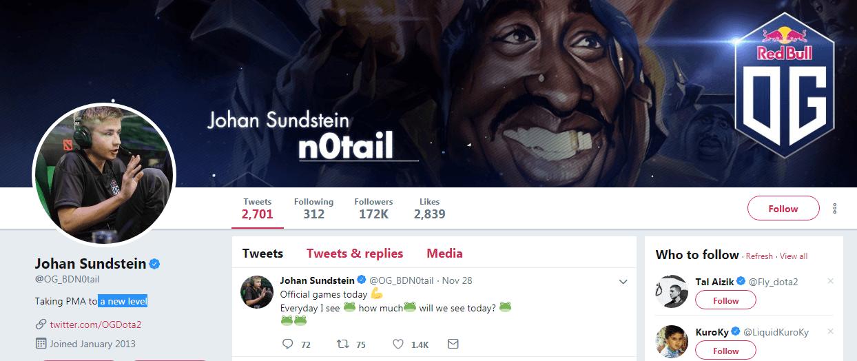 Johan Sundstein eSports Influencers
