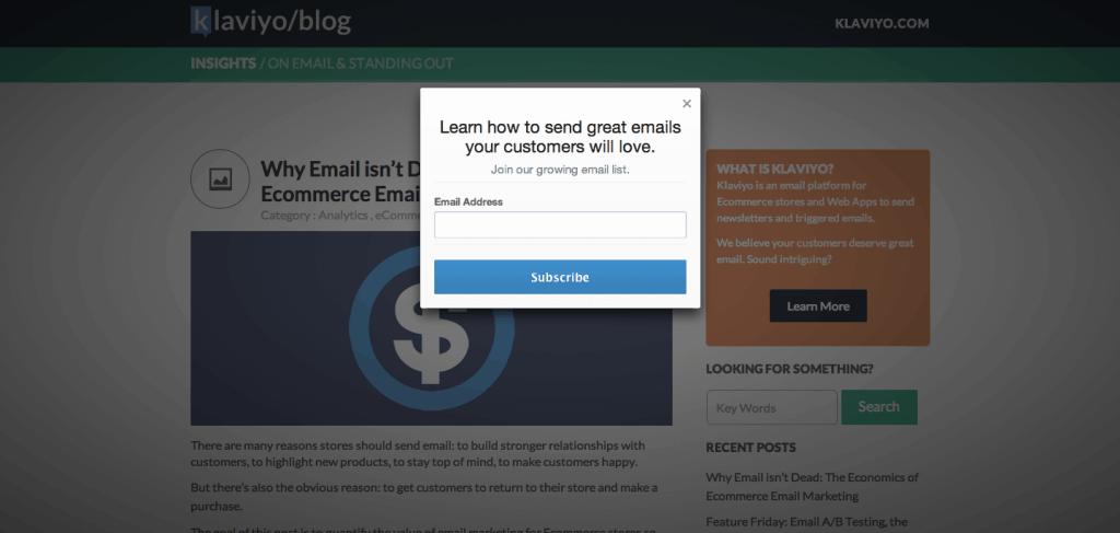 Klaviyo Email Leads