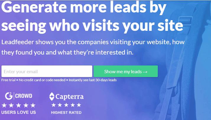 Leadfeeder email marketing software
