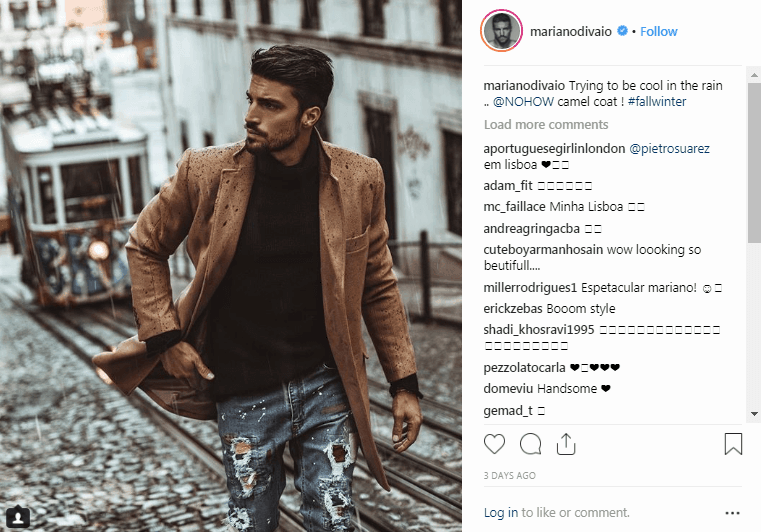 Mariano Di Vaio Instagram Fashion Influencers