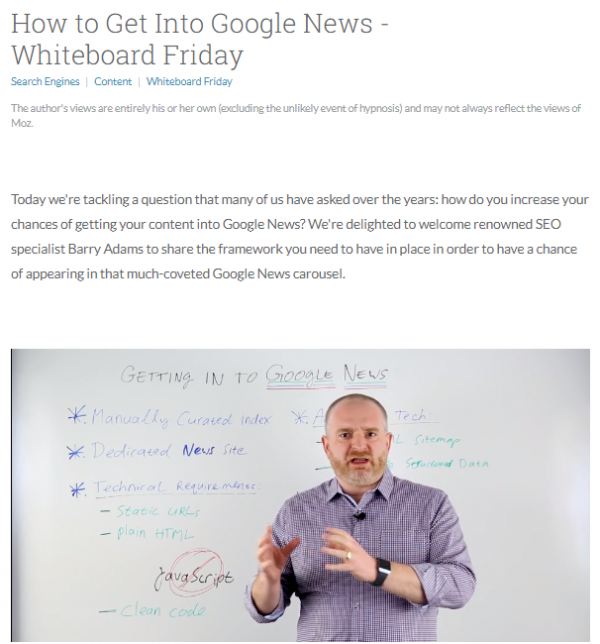 Moz Whiteboard Friday Repurposing Content