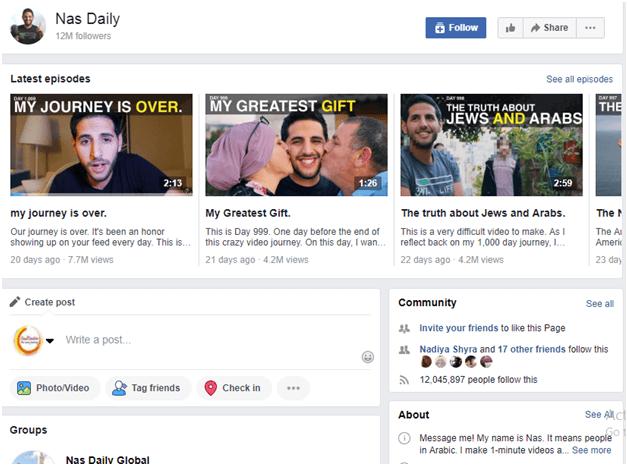 Nas Daily facebook How To Become An Influencer