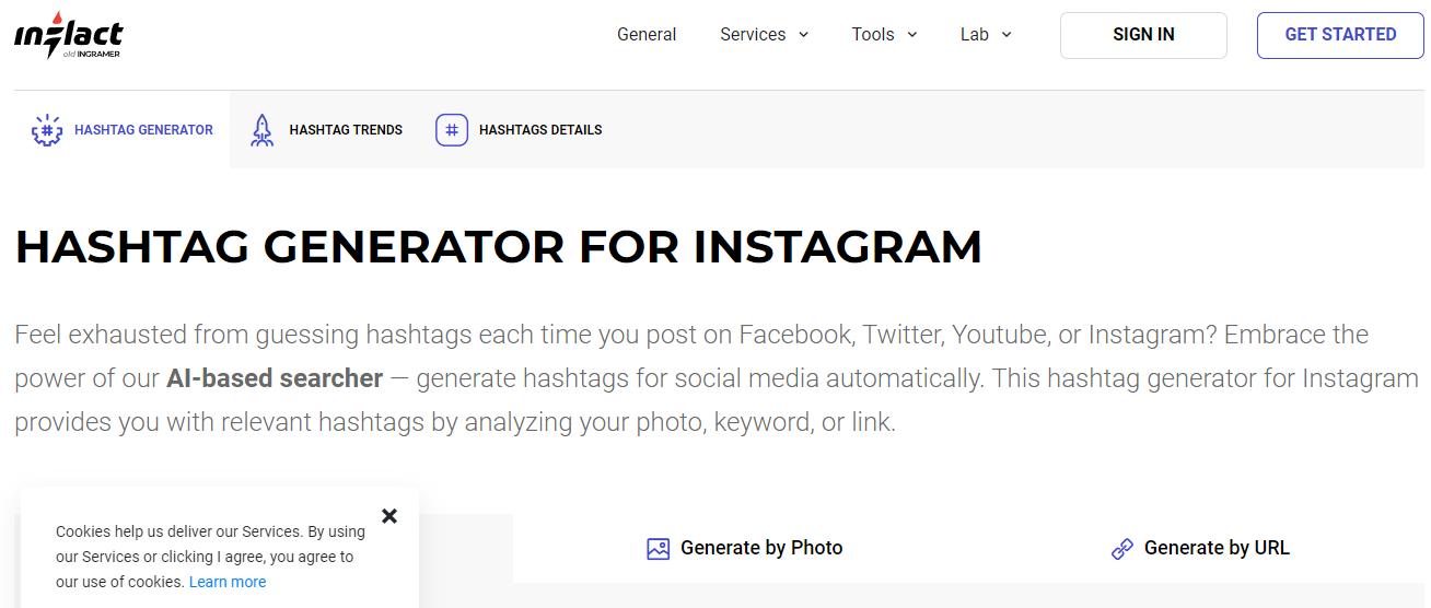 inflact hashtag tracking tools