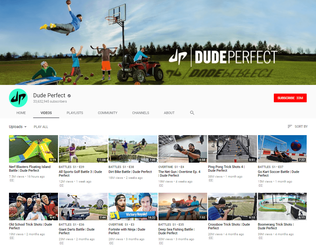 Dude Perfect YouTube vloggers