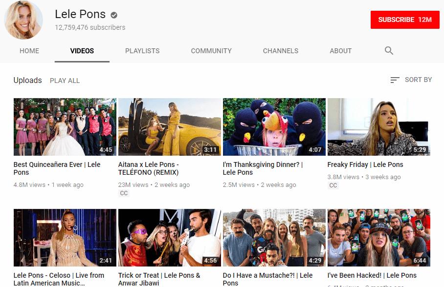 Lele Pons YouTube vloggers