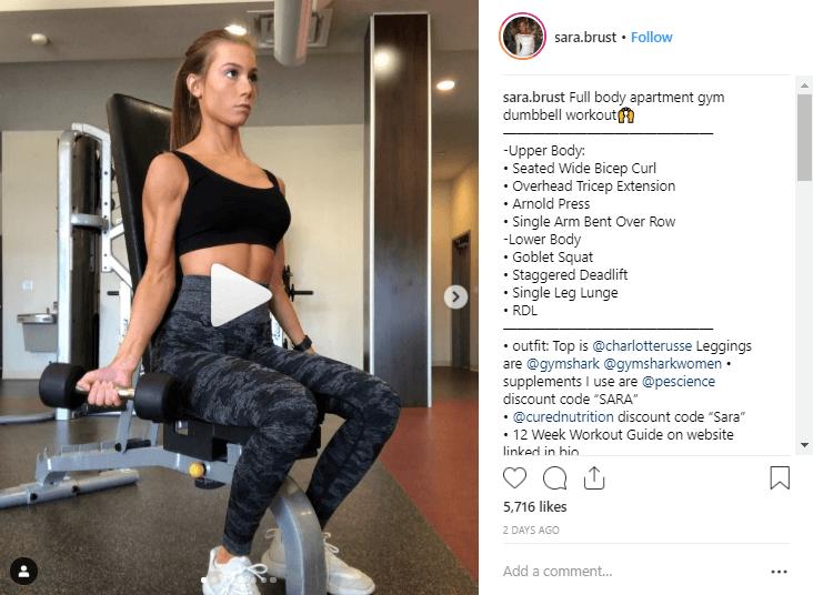 Sara Brust fitness influencers