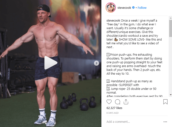 Steve Cook fitness influencers