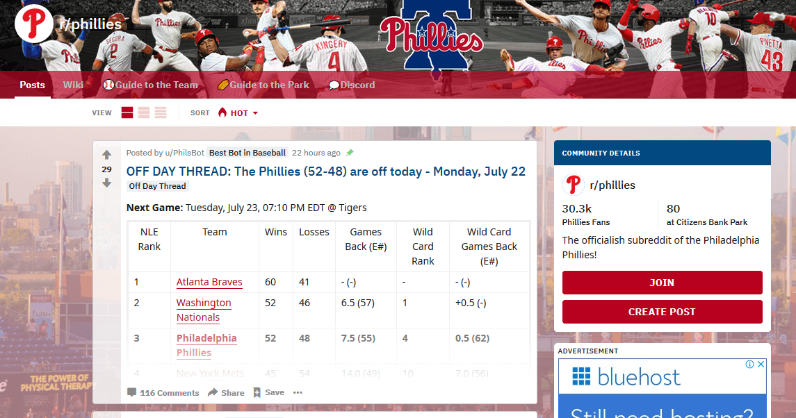 The Phillies subreddit Reddit Marketing