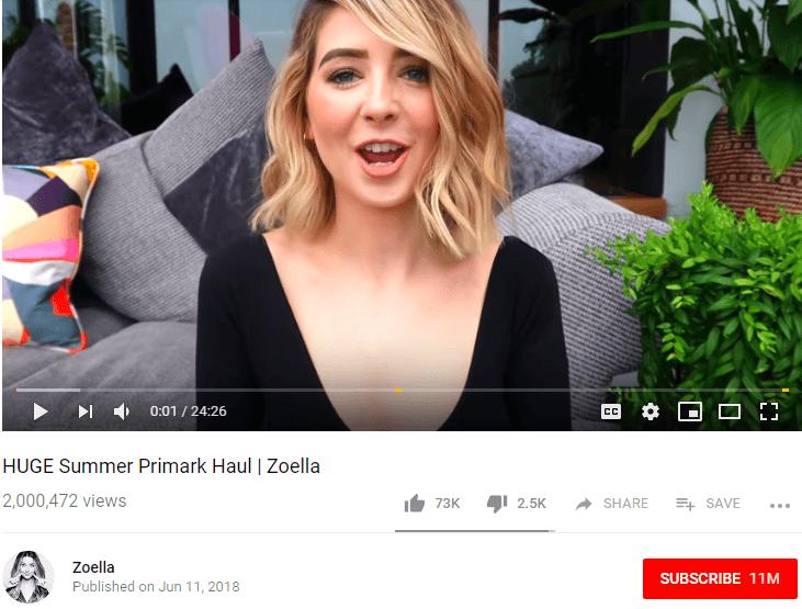 Zoella Female YouTubers