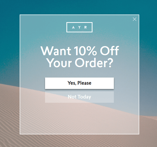 AYR Ecommerce Landing Page
