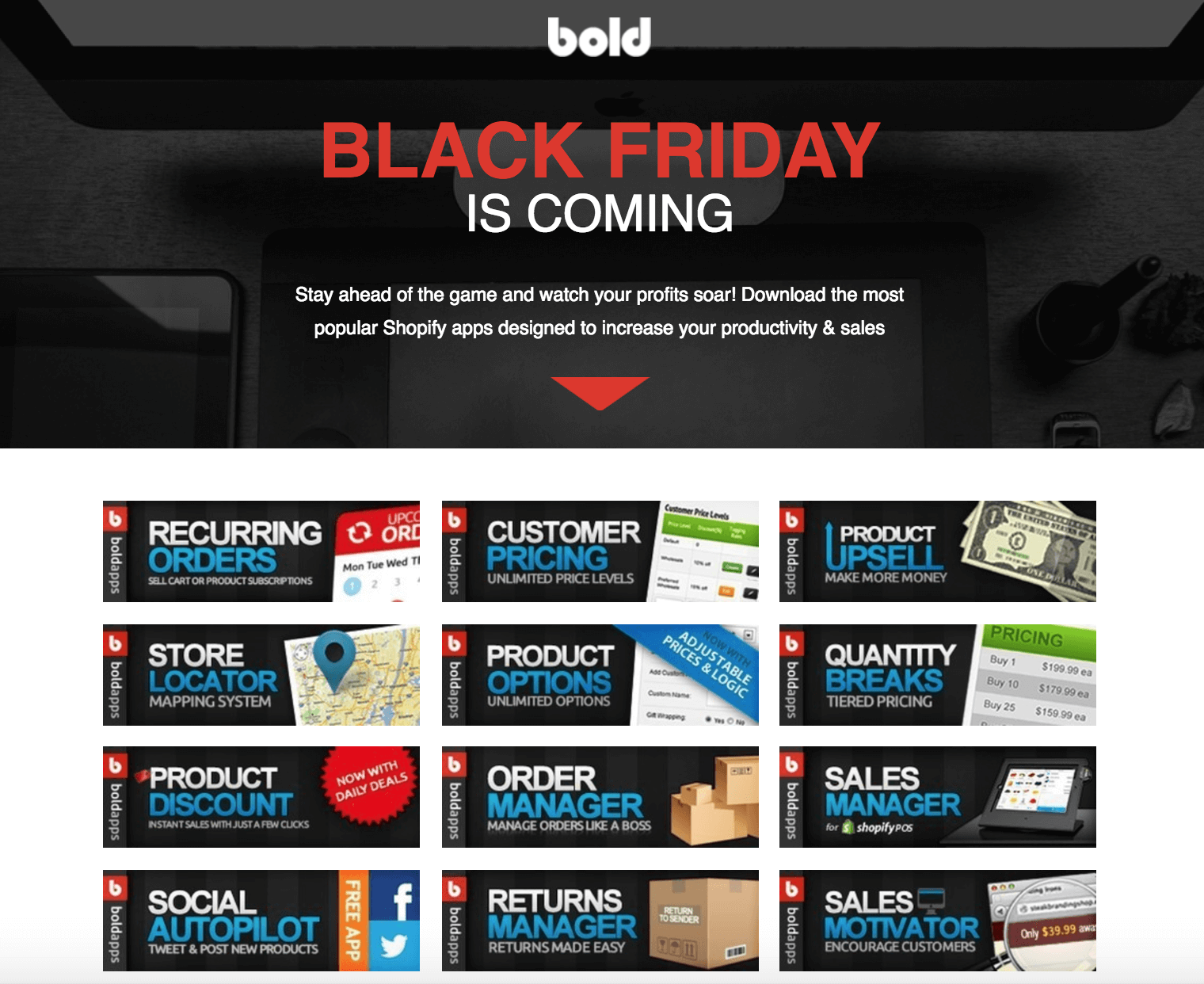Blod Commerce Ecommerce Landing Page