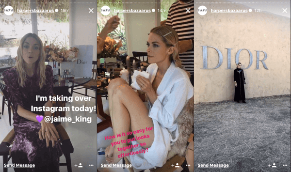Dior Cruise show instagram fashion influencer marketing