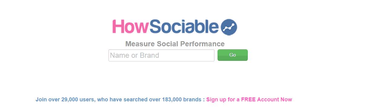 HowSociable Social Media Monitoring Tool