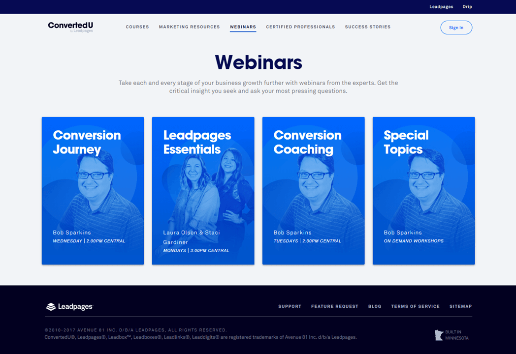 Leadpage Personalized Content