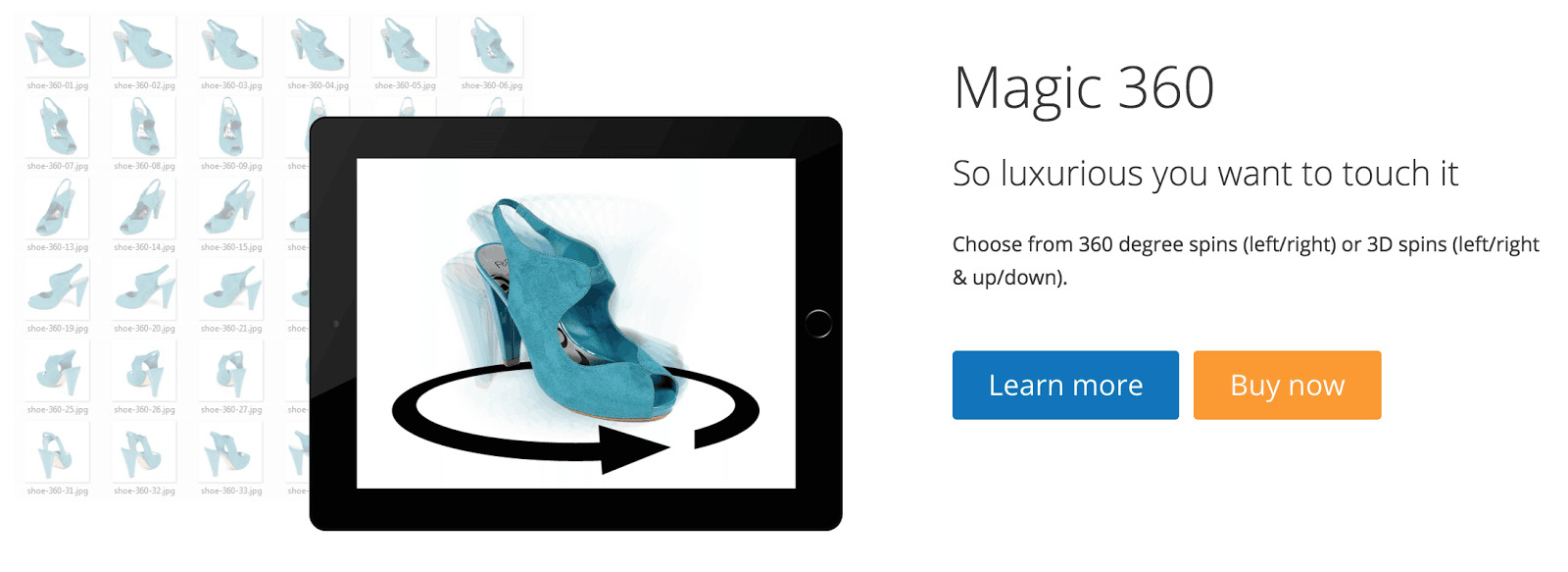 Magic 360 Ecommerce Landing Page