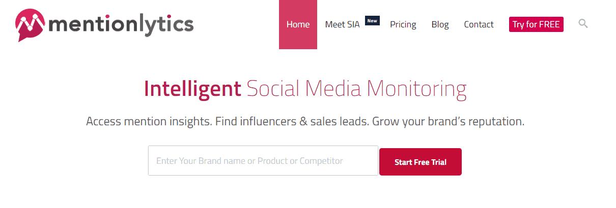 Mentionlytics Social Media Monitoring Tool