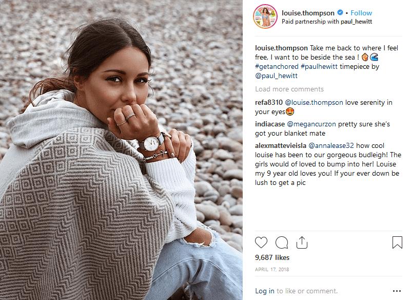 Paul Hewitt uses branded hashtags fashion influencer marketing