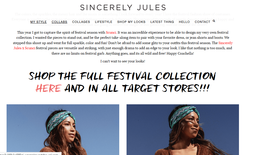 Sincerely Jules fashion influencer marketing
