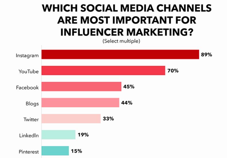 Social Media Platform Influencer Marketing Cost