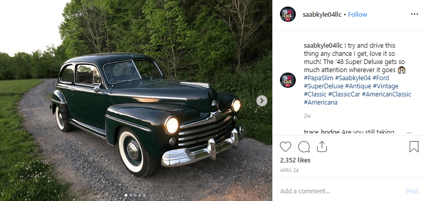 Kyle Lindsey Instagram Automotive Influencer