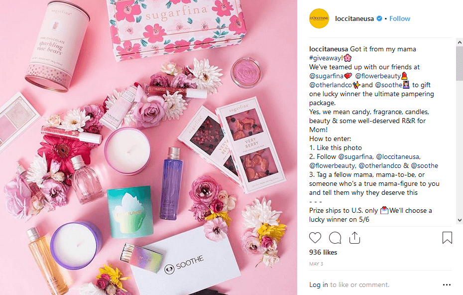 L'Occitane instagram Ways to Promote a Product