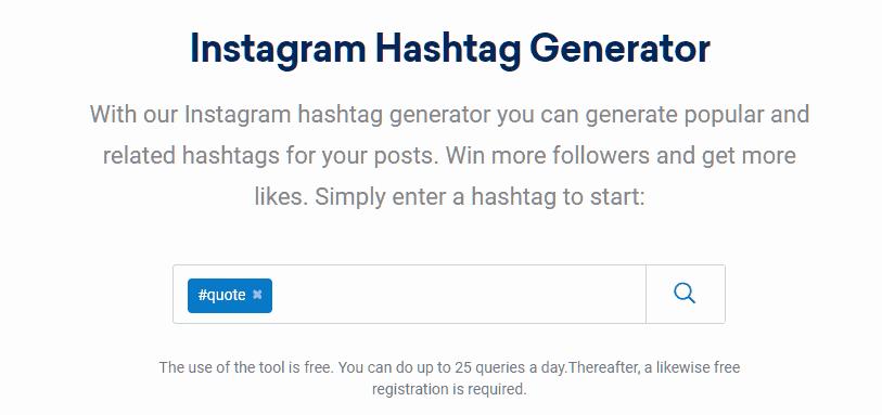 SISTRIX Hashtag Generator tools