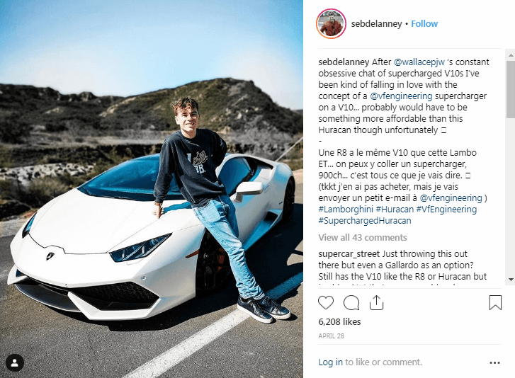 Seb Delanney Instagram Automotive Influencer