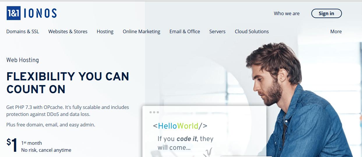 1 & 1 IONOS Web Hosting Company