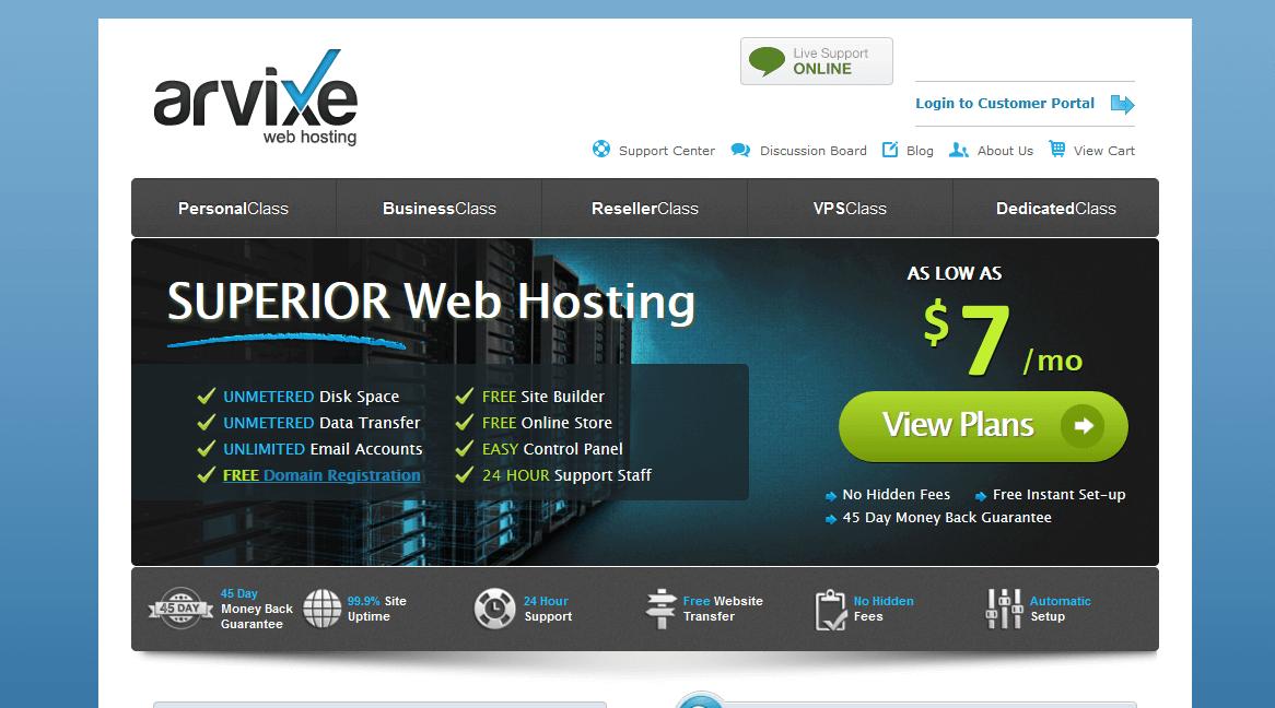 Arvixe Web Hosting Company