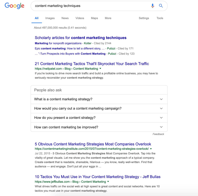 Google Content Marketing Techniques
