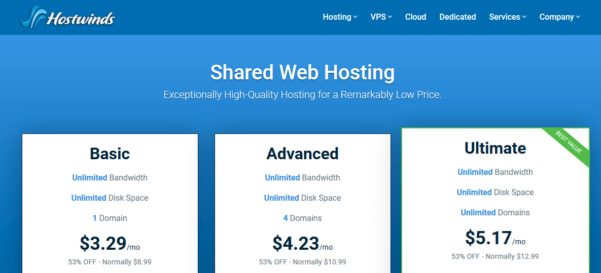 Hostwinds Web Hosting Company