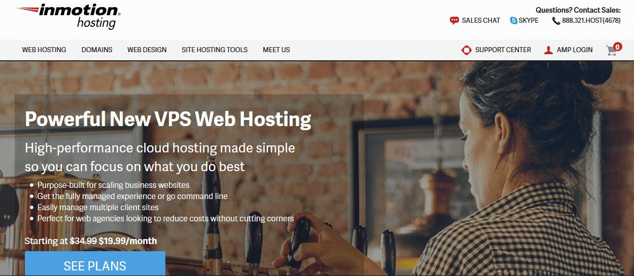 Inmotion Hosting Web Hosting Company