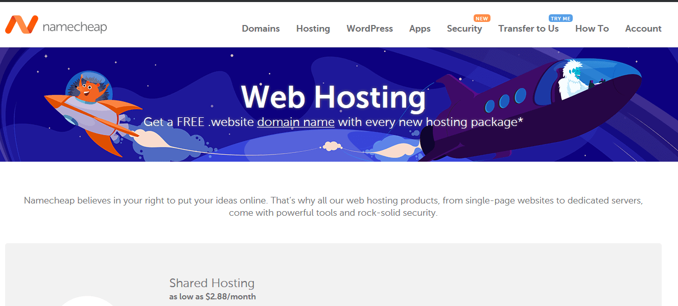 Namecheap Web Hosting Company