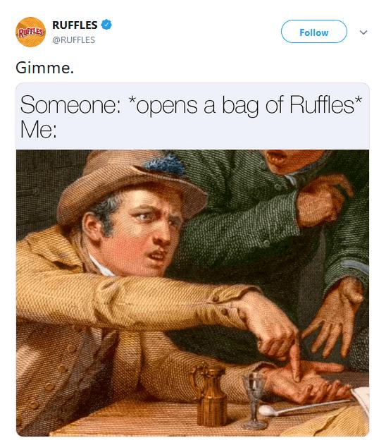 RUFFLES Twitter Marketing with Memes