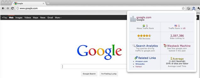 Alexa Traffic Rank SEO Chrome Extensions