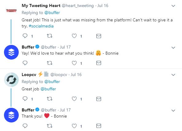 Buffer Responses Social Media Business