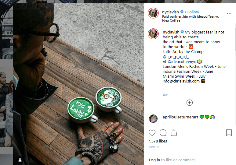Chris Lavish Instagram CBD Influencer