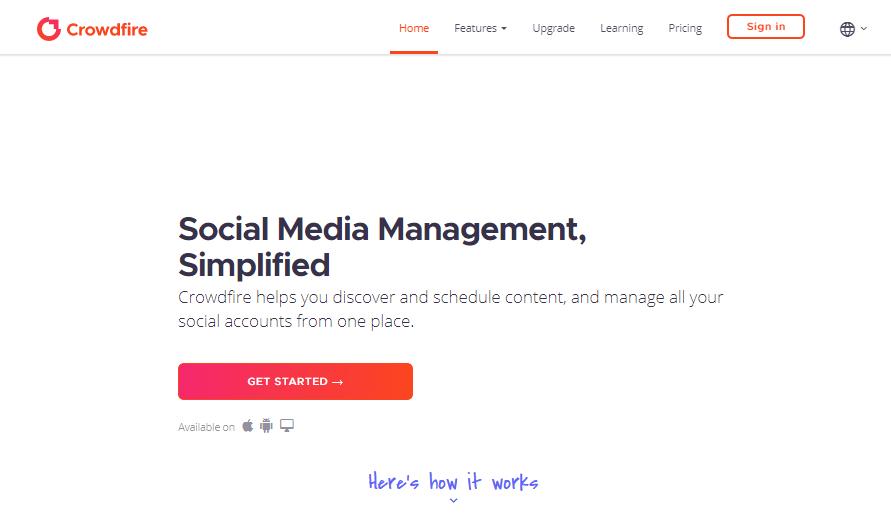 Crowdfire Social Media Management Tools