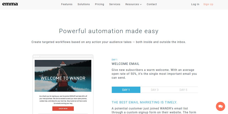 Emma Email Marketing Automation