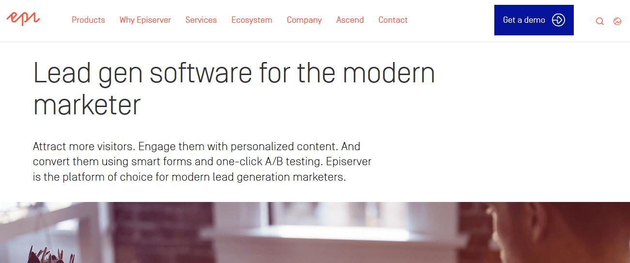 Episerver Lead Generation Software