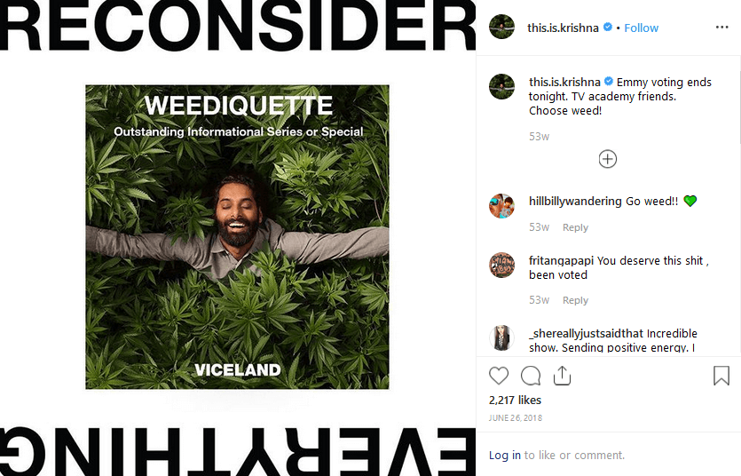Krishna Sai Andavolu Instagram Cannabis influencers