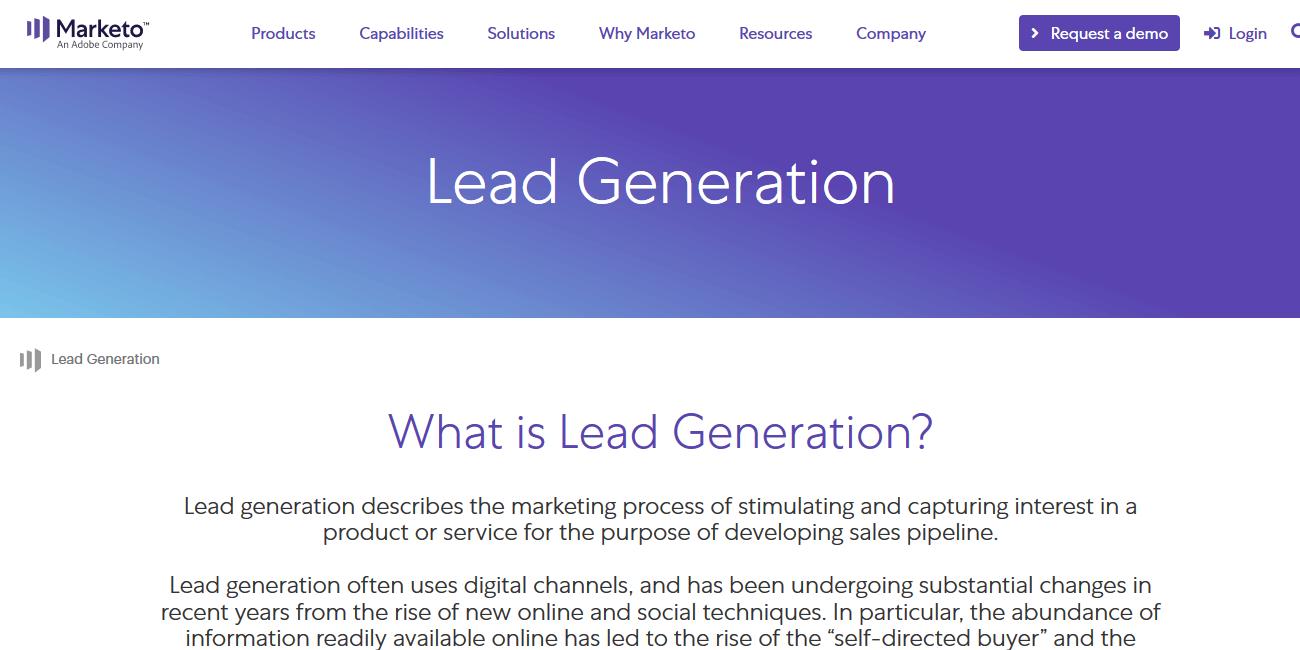 Marketo Lead Generation Software