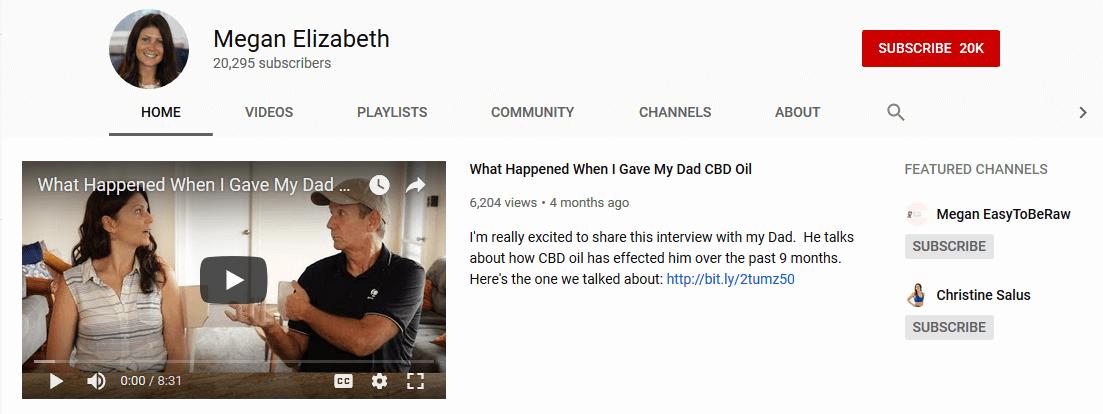 Megan Elizabeth Youtube CBD Influencer