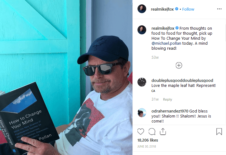 Michael J. Fox Instagram CBD Influencer