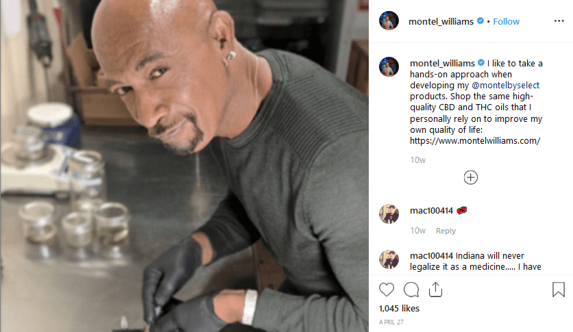 Montel Williams Instagram CBD Influencer