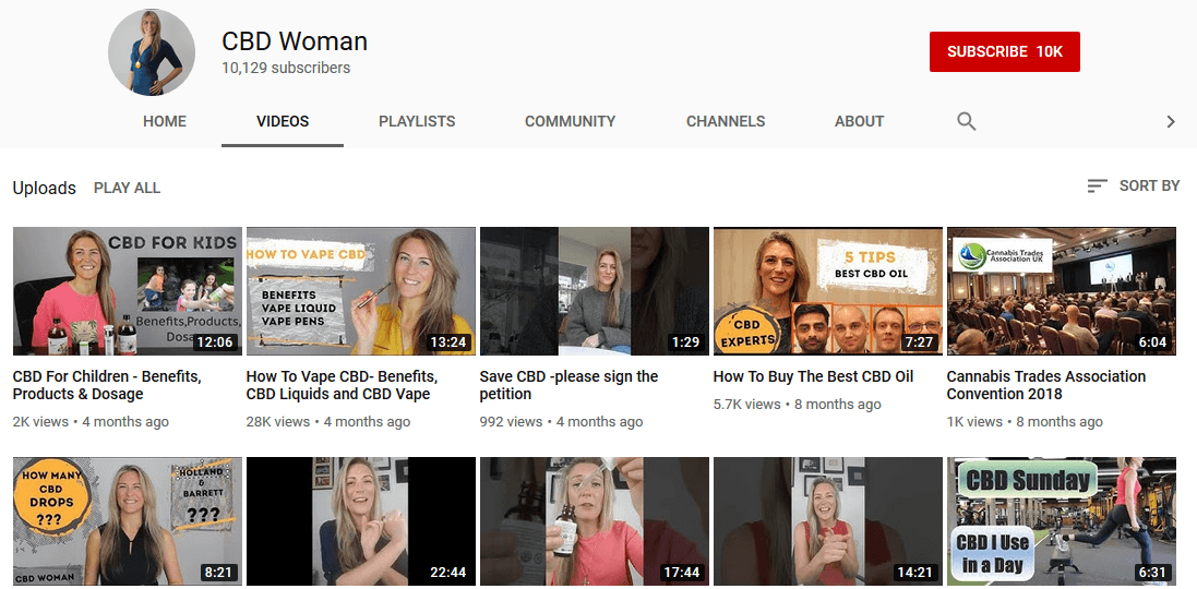 Rachael YouTube CBD Influencer